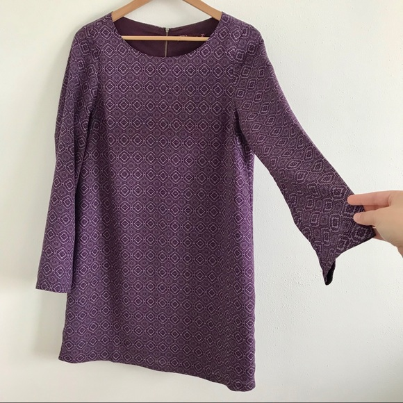 Prana Dresses & Skirts - Prana purple long-sleeved shift dress